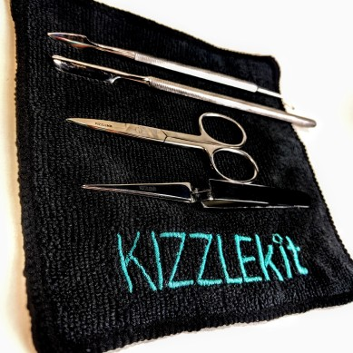Kizzle Kit's specialized fabric keeps Kizzmos clean and shiny.